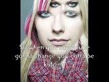 Avril lavigne-Tomorrow you didn't(with lyrics)