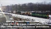 Armijas tehnikas pārvietošana Rīgā, 2015.gada 14.janvāris (Army equipment relocation in Riga)