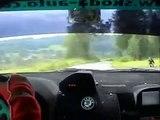Škoda Fabia WRC - speed 201 km/h in the village