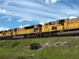 Canadian Pacific Train Spotting in Crowsnest Pass - Union Pacific Power!