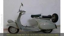 LECCE, POGGIARDO   PIAGGIO  VESPA FARO BASSO CC 125 IMMATRICOLATA 1953