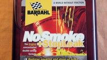 BARDAHL No Smoke + Stop Leak , engine oil additive , bottle label info
