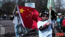 Chinese are Protesting the Dalai Lama