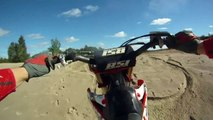 Motocross Ramp Step up Jump at the Pit - Compilation