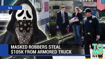 Garda armored truck robbery in Philadelphia: robbers escape in Cadillac Escalade