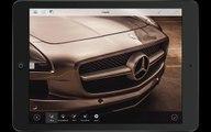 Démo de la future appli Smartphone Adobe Photoshop : retouche de photos de 50MP
