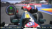F1 2012 European GP Petrov Onboard Overtakes Massa [HD] Engine Sounds