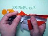 折り紙カタツムリの箸袋の折り方作り方 創作 Origami snail