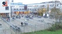Quand 600 écoliers arrivent en vélo au Lycée... Timelapse aux Pays-Bas