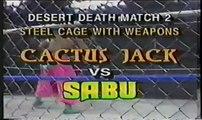 Cactus vs Sabu Desert Deathmatch 2 Cage of Weapons