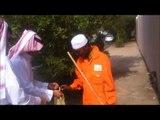 تعامل ابناء الحرمين مع عمال النظافة في العيد بمدينة الرسول