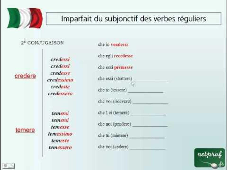Imparfait Du Subjonctif Des Verbes Reguliers Video Dailymotion