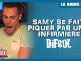 Samy se fait piquer par une infirmière en direct dans la Radio Libre de Difool !
