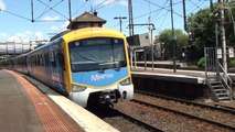Metro trains and V/Line at Footscray - Melbourne trains.