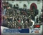 INVESTITURE OBAMA  À 17h20, Carter, Bush Sr, Clinton et Bush Jr. arrivent au Capitole.