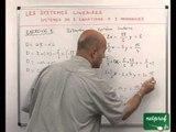 33 Systèmes linéaires : résolution des systèmes linéaires de deux équations à deux inconnues