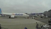 Киев аэропорт Жуляны FlyDubai pushback at Ukraine Kyiv airport Zhuliany