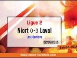 (J38) Niort 0-3 Laval, réaction de R. Brouard