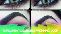 Burgundy Wearble Wedding Look | TheBriaBEauty (REQUESTED)