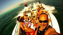 Nage avec Dauphin Gopro  à iles Maurice le Morne, Swimming with dolphins in Mauritius Island