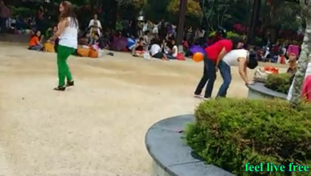 Girls Funny Game In Park