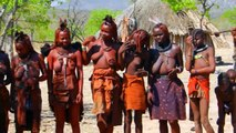 Himba Dance. Dancing people from Namibia.