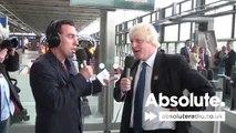 Boris Johnson at St Pancras station