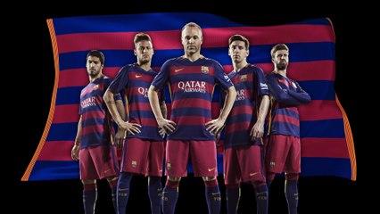 Barcelona presenta su nueva y polémica equipación para la temporada 2015-16   FOTOS  12f803a05e0