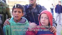 Ten-year-old Palestinian boys forcefully arrested