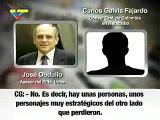 grabación: Rosales Ledezma trabajan para Colombia Carlos Galvis José Obdulio Gaviria