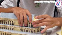 World's Great Architecture 3D Puzzle France Notre-Dame De Paris Demo Tutorial
