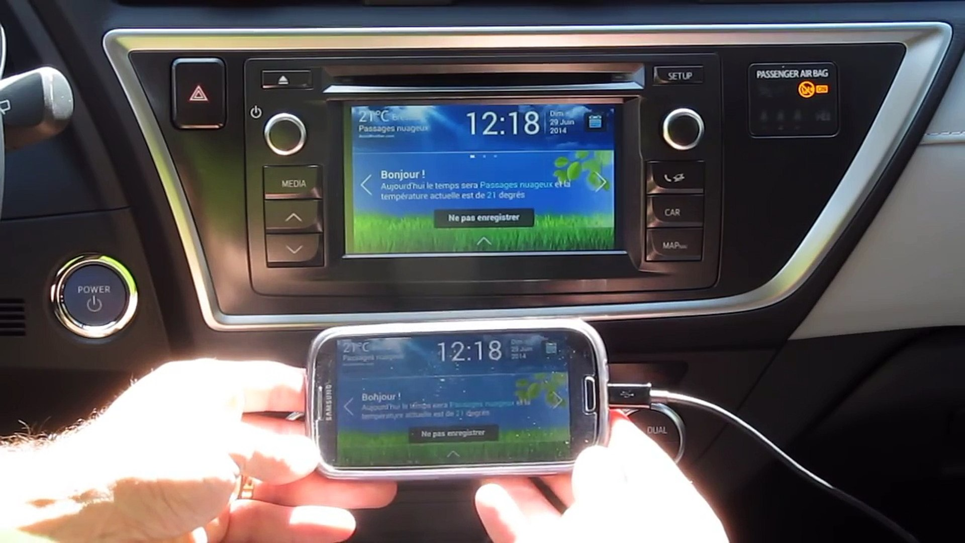 MirrorLink sur Toyota Touch 2