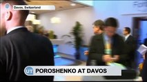 Poroshenko Visits Davos Forum: Ukrainian President urges Russia adhere to Minsk deal