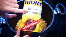 Popcorn selber machen süß im Topf ganz einfach karamellisiert in 10 Minuten ohne Popcornmaschine