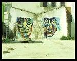 irish street artists timelapse graffiti in barcelona