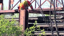 The Last Train from Beachburg Ontario  CN Rail continues lifting welded rail with CWR train