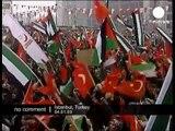 Turkish protest against israeli airstrike in Gaza