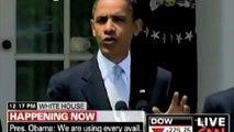 Obama Blames Bush for Oil Spill