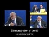 Démonstration et vérité, 2e partie, Alain CHAUVE