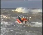 lifeboat does backflip in storm surf