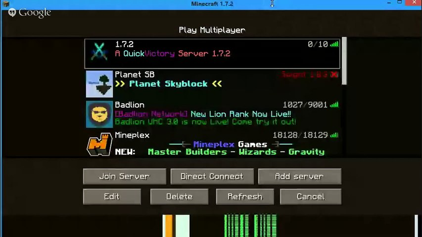 Minecraft Server Play: Day 1 (join!)