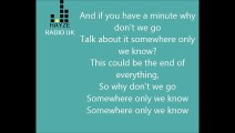 Lilly Allen - Somewhere only we know (Lyrics on screen)