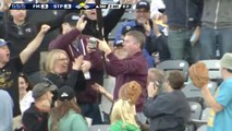 Fan Catches Flying Baseball Bat With One Hand, Doesn't Spill One Drop Of His Beer