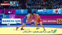 【仁川アジア大会:八百長】 レスリングでイラン選手が韓国選手有利のジャッジにブチ切れて整列を拒否した映像!!