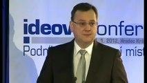Petr Nečas: Stát nesmí firmám a podnikatelům překážet