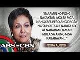 Nora Aunor speaks on National Artist issue