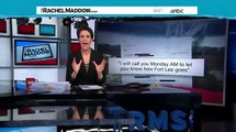 Rachel Maddow: Chris Christie's Office Knew From The Start Bridge Lane Closures Were Harmful