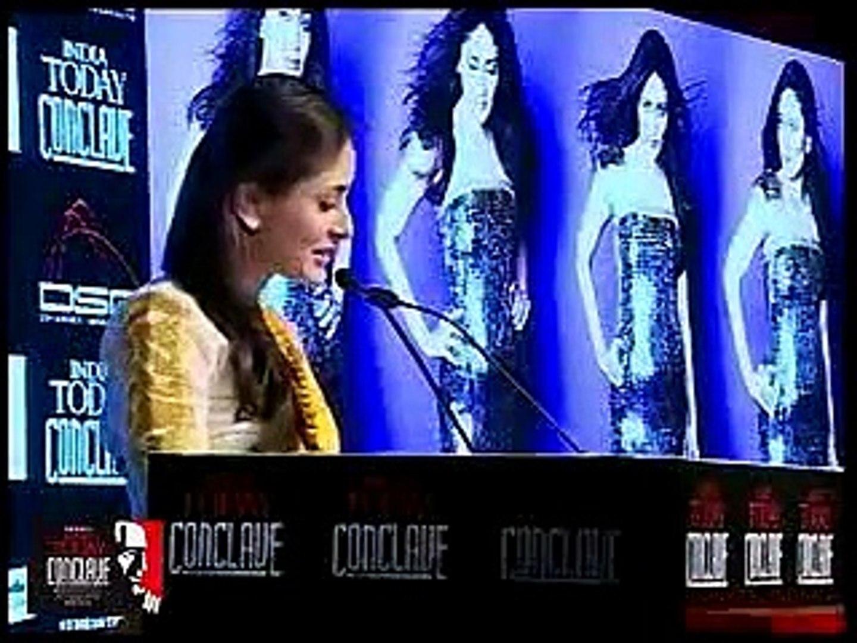 Kareena Kapoor speech at India today Conclave 2012
