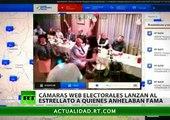 Los momentos más graciosos captados por las cámaras web en las elecciones rusas