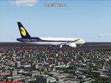 Jet Airways Boeing 777 Landing at Netaji Subash Chandra Bose International Airport, Kolkata, India!